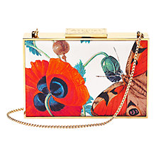 Buy Aspinal of London Box Poppy Clutch Bag, White / Multi Online at johnlewis.com