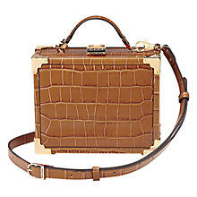 Buy Aspinal of London Mini Leather Trunk, Tan Croc Online at johnlewis.com