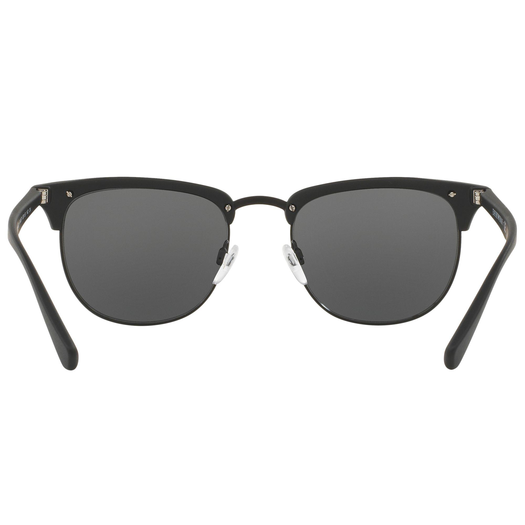 Buy Emporio Armani EA4072 Half Frame Oval Sunglasses ...