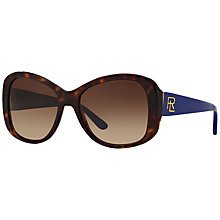 Buy Ralph Lauren RL8144 Gradient Cat's Eye Sunglasses, Tortoise/Indigo Online at johnlewis.com