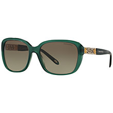 Buy Tiffany & Co TF4120 Embellished Square Gradient Sunglasses Online at johnlewis.com