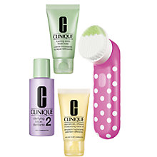 Buy Clinique Pink Dot Sonic Brush Set Online at johnlewis.com