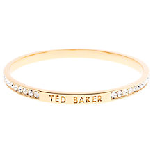 Buy Ted Baker Clem Swarovski Crystal Bangle, Gold Online at johnlewis.com
