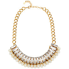 Buy Adele Marie Crystal Bead Chain Collar Necklace, Gold/Clear Online at johnlewis.com
