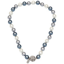 Buy Adele Marie Faux Pearl Pave Clasp Necklace, Grey Online at johnlewis.com