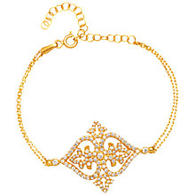 Buy Adele Marie Gold Plated Sterling Silver Cubic Zirconia Filigree Bracelet, Gold Online at johnlewis.com