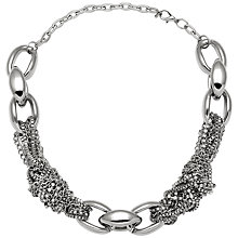 Buy Adele Marie Giant Links and Fine Knotted Chain Detail Necklace, Silver Online at johnlewis.com