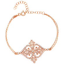 Buy Adele Marie Cubic Zirconia Filigree Bracelet Online at johnlewis.com