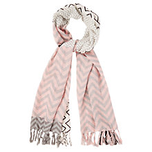 Buy Oasis Patched Chevron Scarf, Multi Online at johnlewis.com