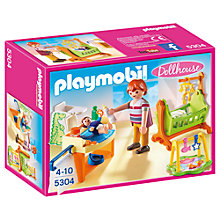 Buy Playmobil Dollhouse Baby Room With Cradle Online at johnlewis.com