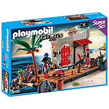 Buy Playmobil Pirates Fort Superset Online at johnlewis.com