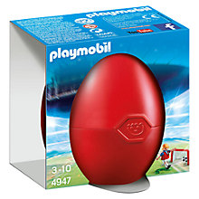 Buy Playmobil Gift Egg Soccer Player with Goal Online at johnlewis.com