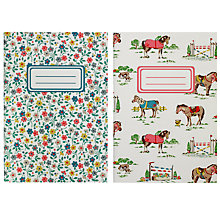 Buy Cath Kidston Pony And Flowers Print Notepad, Pack of 2, Multi Online at johnlewis.com