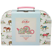 Buy Cath Kidston Children's Pony Print Tea Party Set, Cream Online at johnlewis.com