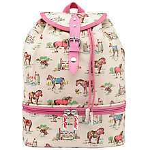 Buy Cath Kidston Children's Pony Compartment Backpack, Cream/Multi Online at johnlewis.com