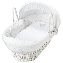 Buy John Lewis Make A Wish Moses Basket, White Online at johnlewis.com