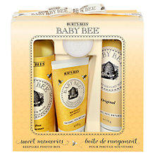 Buy Burt's Bees Baby Bee Sweet Memories Gift Set with Photo Box Online at johnlewis.com