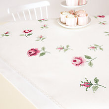 Buy Rico Rose Table Cloth Cross Stitch Kit Online at johnlewis.com