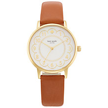 Buy kate spade new york 1YRU0835 Women's Metro Scalloped Leather Strap Watch, Tan/White Online at johnlewis.com