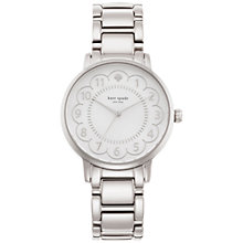 Buy kate spade new york 1YRU0792 Women's Gramercy Scalloped Bracelet Strap Watch, Silver/White Online at johnlewis.com