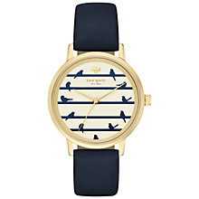 Buy kate spade new york KSW1022 Women's Metro Bird Leather Strap Watch, Navy/Cream Online at johnlewis.com