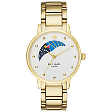 Buy kate spade new york KSW1072 Women's Gramercy Moon Phase Cocktail Bracelet Strap Watch, Gold/White Online at johnlewis.com