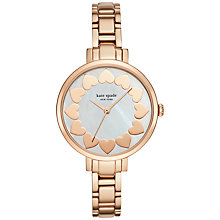Buy kate spade new york KSW1036 Women's Gramercy Valentine's Motif Bracelet Strap Watch, Rose Gold/Silver Online at johnlewis.com