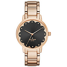 Buy kate spade new york Women's Gramercy Scallop Detail Bracelet Strap Watch, Rose Gold/Black Online at johnlewis.com