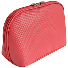 Buy John Lewis Braid Zip Over Wash Bag, Coral Online at johnlewis.com