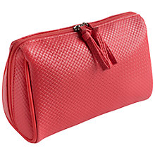 Buy John Lewis Braid Clamshell Wash Bag, Coral Online at johnlewis.com