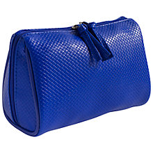 Buy John Lewis Braid Clamshell Wash Bag, Cobalt Online at johnlewis.com