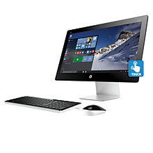"Buy HP Pavilion 23-q155na All-in-One Desktop PC, Intel Core i5, 8GB RAM, 2TB, 23"", Full HD, Blizzard White Online at johnlewis.com"