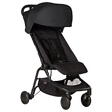 Buy Mountain Buggy Black Nano Stroller bundle with Free Cocoon Online at johnlewis.com