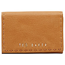 Buy Ted Baker Cellano Mini Stab Stitch Leather Purse Online at johnlewis.com