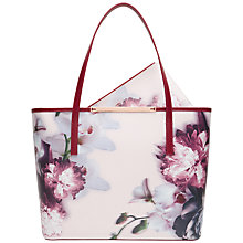 Buy Ted Baker Lietta Ethereal Posie Crosshatch Leather Shoper Bag Online at johnlewis.com
