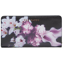 Buy Ted Baker Maylam Ethereal Posie Crosshatch Matinee Purse, Black Online at johnlewis.com