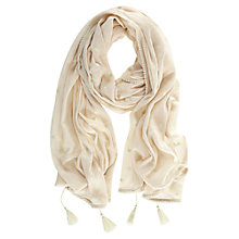 Buy Mint Velvet Apricot Spot Scarf, Pale Pink Online at johnlewis.com