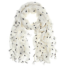Buy Mint Velvet Pearl Print Scarf, Ivory Online at johnlewis.com