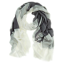 Buy Mint Velvet Smoke Shell Scarf, Grey Online at johnlewis.com