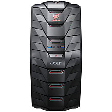 Buy Acer Predator G3-710 Gaming Desktop PC, Intel Core i7, 12GB RAM, 1TB, Black and Microsoft 900 Wireless Mouse, Black Online at johnlewis.com