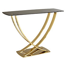 Buy John Lewis Moritz Console Table, Gold Online at johnlewis.com