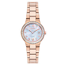 Buy Citizen Women's Silhouette Crystal Date Bracelet Strap Watch Online at johnlewis.com