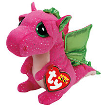 Buy Ty Beanie Boos Darla Dinosaur Soft Toy, 16cm Online at johnlewis.com