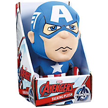 Buy Marvel The Avengers Captain America Talking Plush Online at johnlewis.com