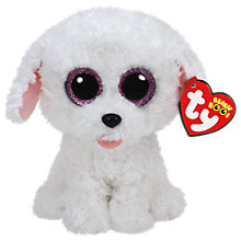 Buy Ty Beanie Boos Pippie Dog Soft Toy, 16cm Online at johnlewis.com
