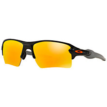 Buy Oakley OO9188 FLAK 2.0 XL Mirrored Rectangular Sunglasses Online at johnlewis.com