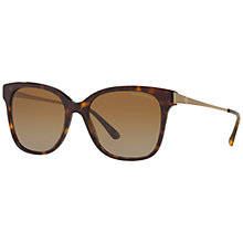 Buy Giorgio Armani AR8074 Gradient Polarised Square Sunglasses, Tortoise Online at johnlewis.com