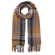 Buy Miss Selfridge Checked Scarf, Camel/Grey Online at johnlewis.com
