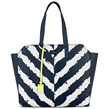 Buy Paul's Boutique Ally Zip Tote Bag, Navy / White Online at johnlewis.com