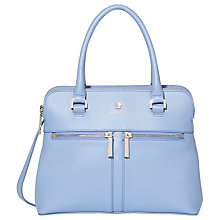 Buy Modalu Pippa Small Leather Grab Bag, Lavender Online at johnlewis.com